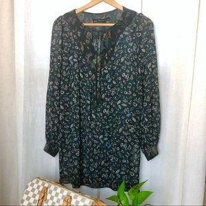 Zara Floral Print Tunic Dress Small